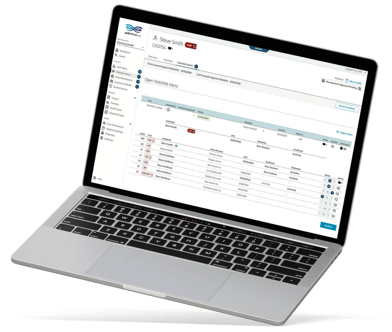Jade ThirdEye Software on MacBook