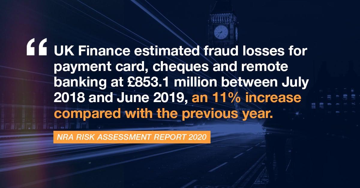 JTE NRA Risk Assessment Report fraud losses of 853 million
