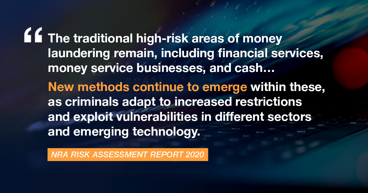 New methods of money laundering are emerging
